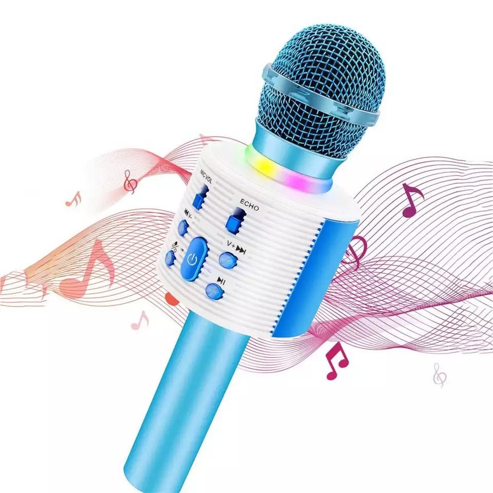 Microfon  Boxa cu Led model V6