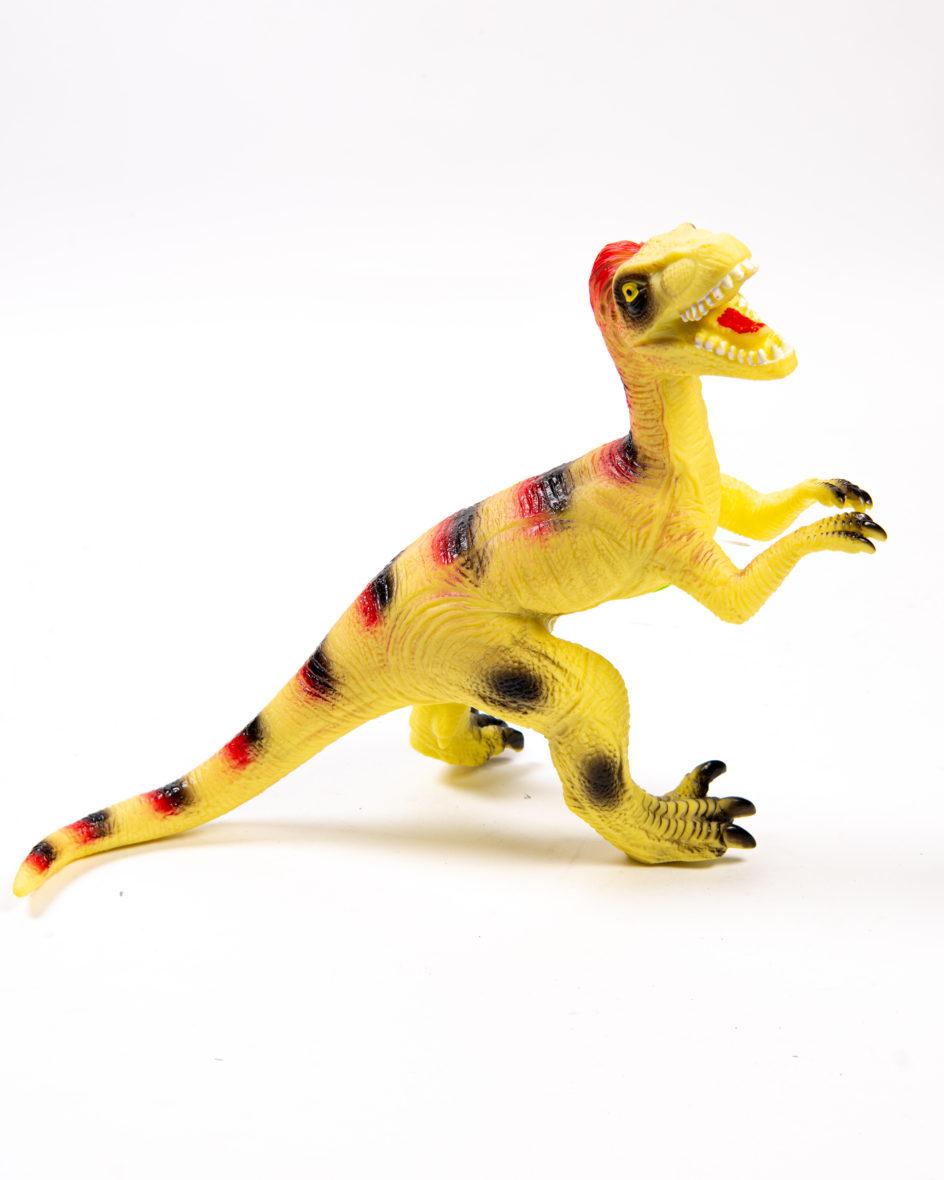 Dinozaur Mare din Cauciuc Muzical  Galben