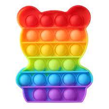 Jucarie Senzoriala Pop It  Ursulet  multicolor