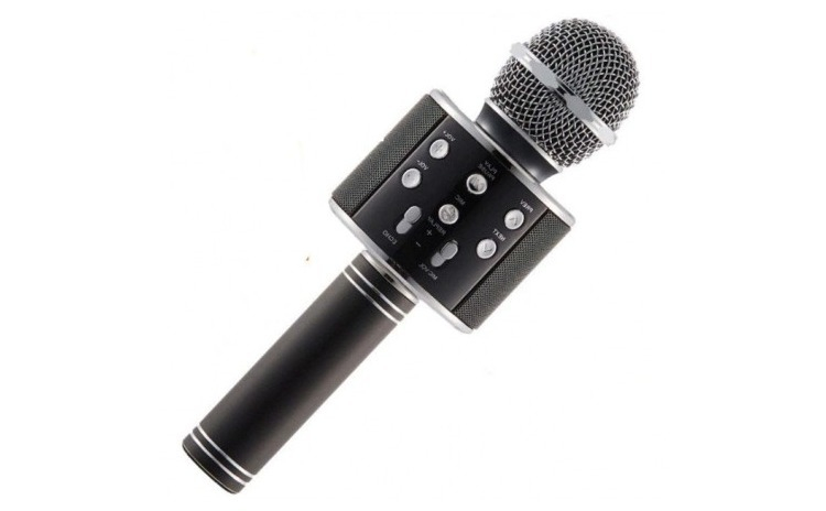 Microfon Karaoke WS-858  cu Bluetooth si boxa inclusa Negru