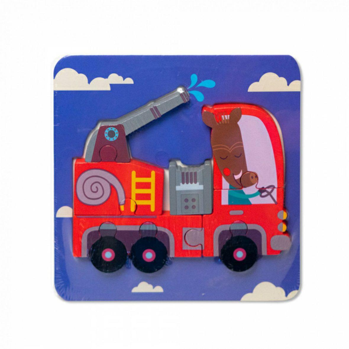 Puzzle 3D 5-7 piese Masina Pompieri