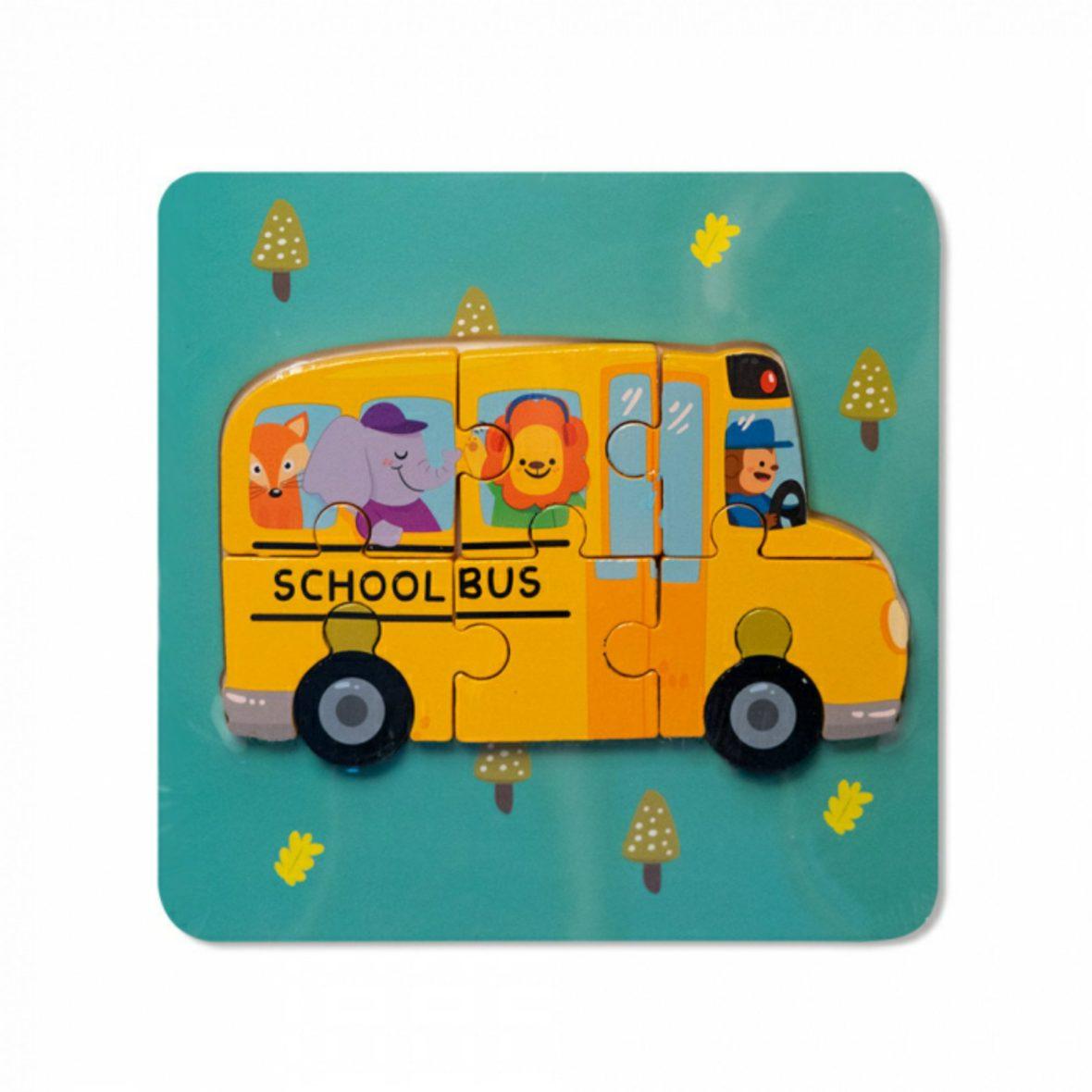 Puzzle 3D 5-7 piese Autobuz